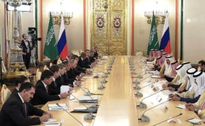 Russia-Saudi Arabian talks in extended format in Moscow, Oct 2017 (photo: kremlin.ru)