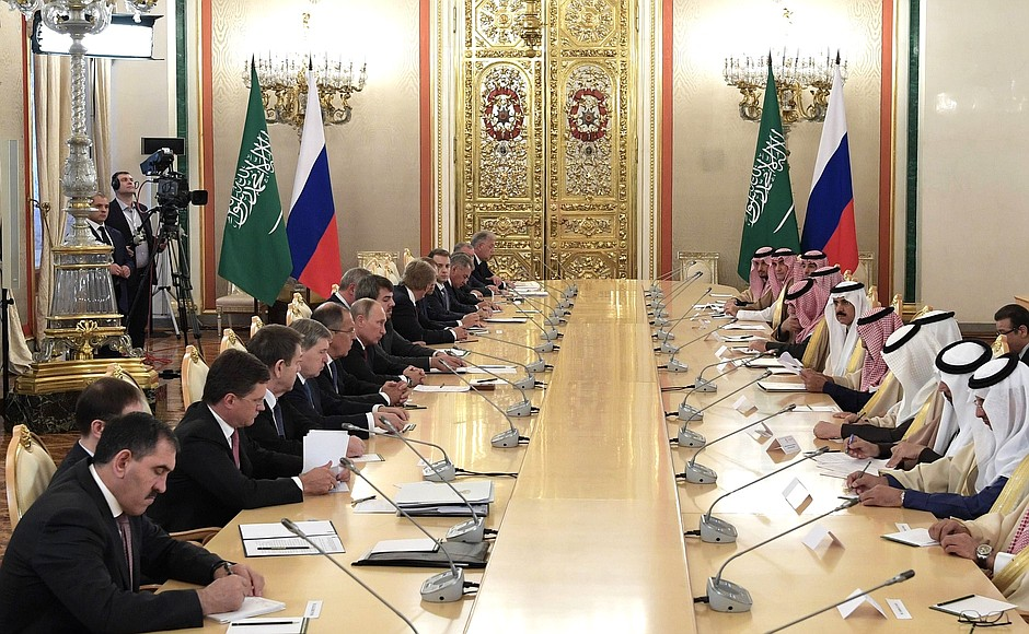 Russia-Saudi Arabian talks in extended format in Moscow, Oct 2017 (photo: kremlin.ru)