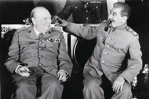 Churchill and Stalin in Kremlin, Aug 1942