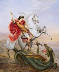St.George defeating Dragon.