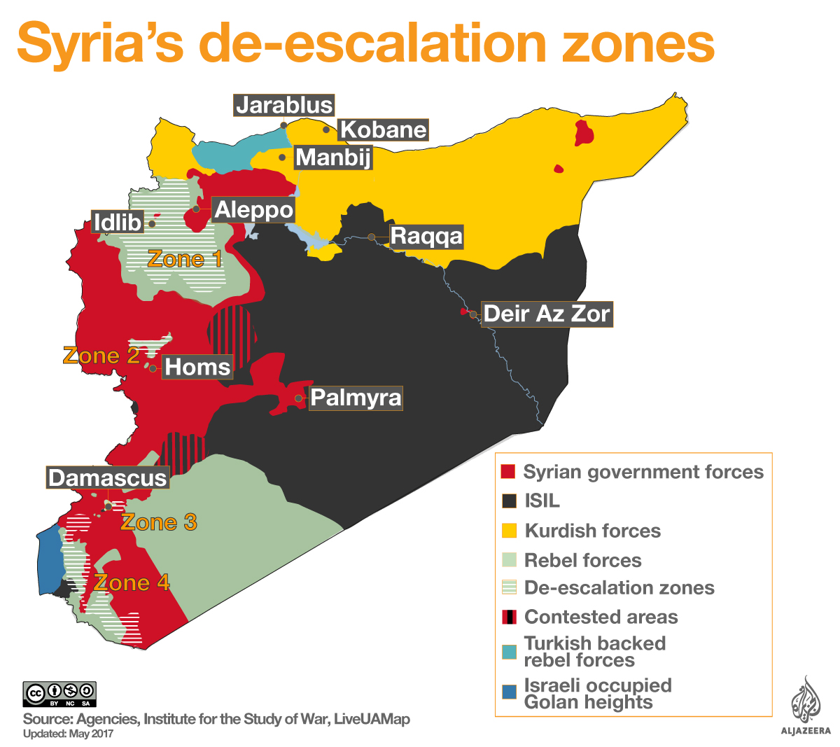 De-escalation zones in Syria