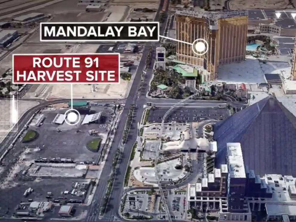 Las Vegas shooting map