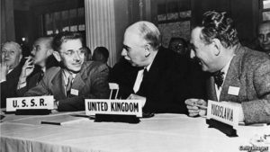 Soviet delegation taking part in Bretton Woods conference, July 1944