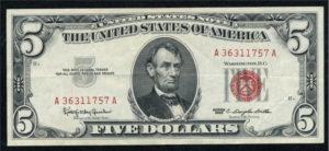 United States Note 1963 5 dollars
