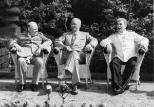 Stalin, Truman and Churchill in Potsdam, Germany, July 1945