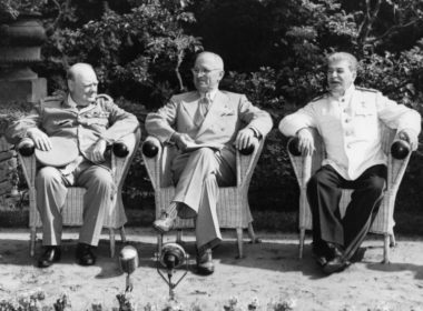 Stalin, Truman and Churchill in Potsdam, Germany, July 1945