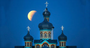 An Orthodox cathedral in Turets, Belarus