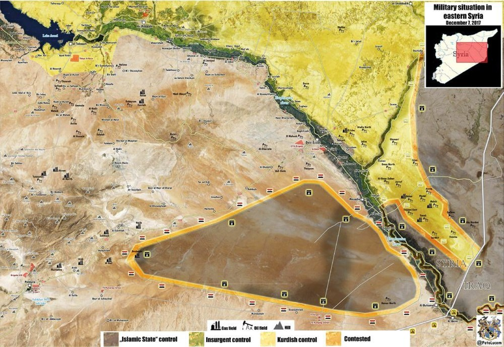 Military situation in Eastern Syria Dec 2017