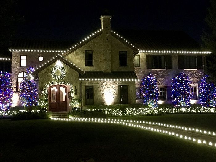 Christmas decorations in Dallas, Texas.