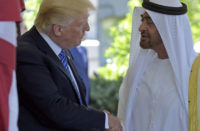 President Donald Trump welcomes Abu Dhabi's Crown Prince Sheikh