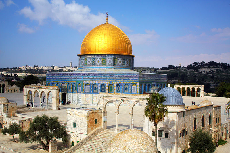The Dome of the Rock, built by 'Abd al-Malik in 690