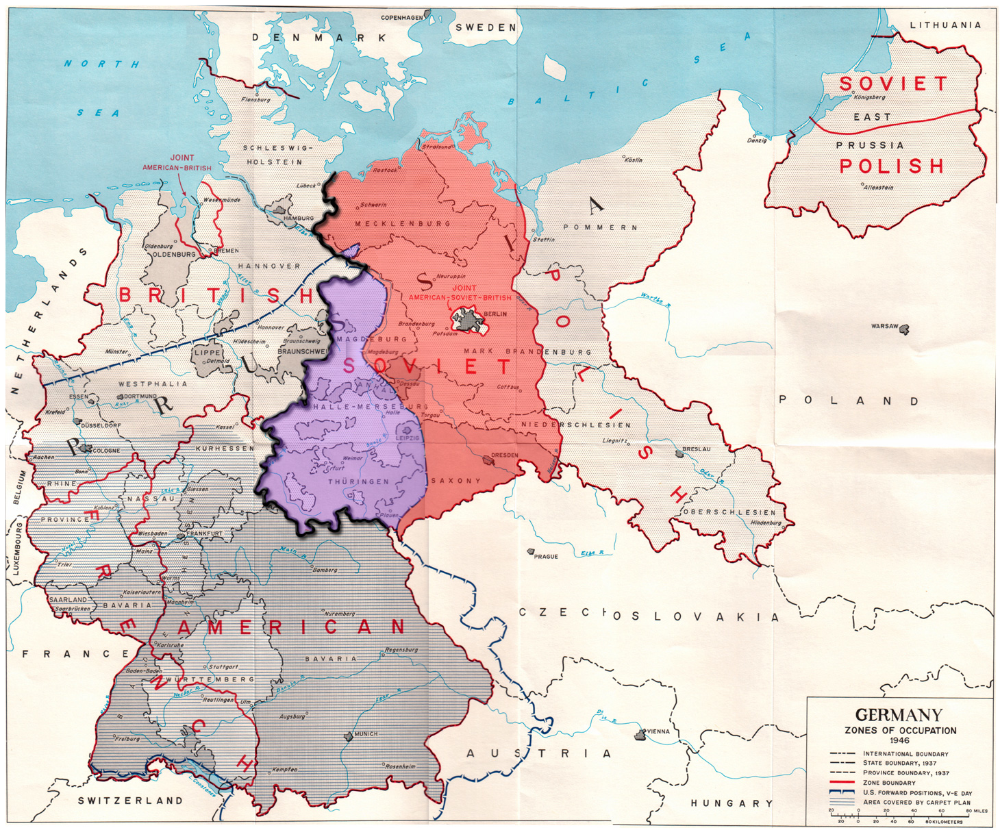 Germany Zones of Occupation 1946