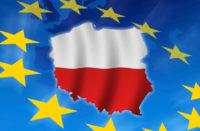 Poland in European flag