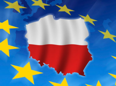 Poland in European flag
