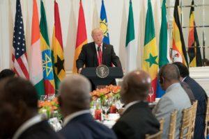 US President Donald Trump congratulates African leaders