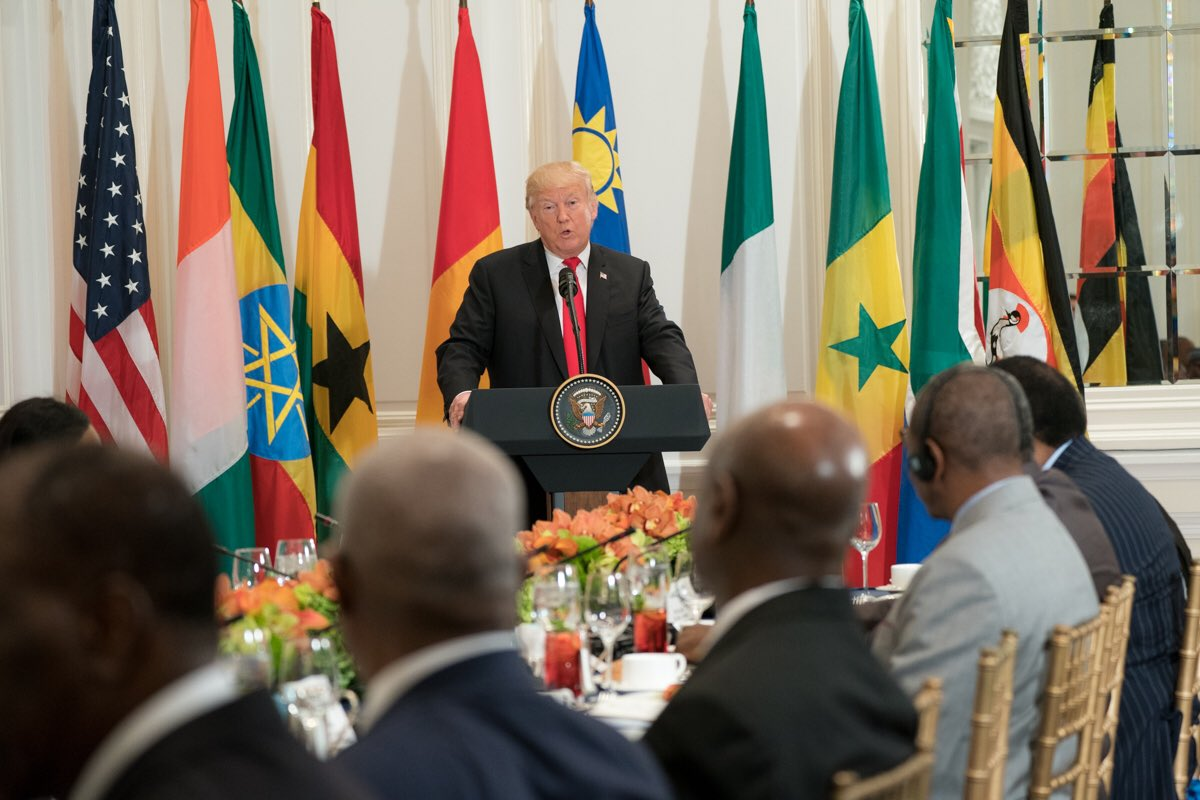 US President Donald Trump congratulates African leaders