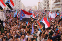 Yemen independence rally Aden