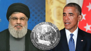 Former US President Obama (R), Hezbollah leader Nasrallah and Project Cassandra
