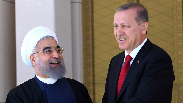 Recep Tayyip Erdogan and Hassan Rouhani