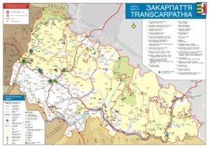 Map of the Ukrainian Transcarpathia