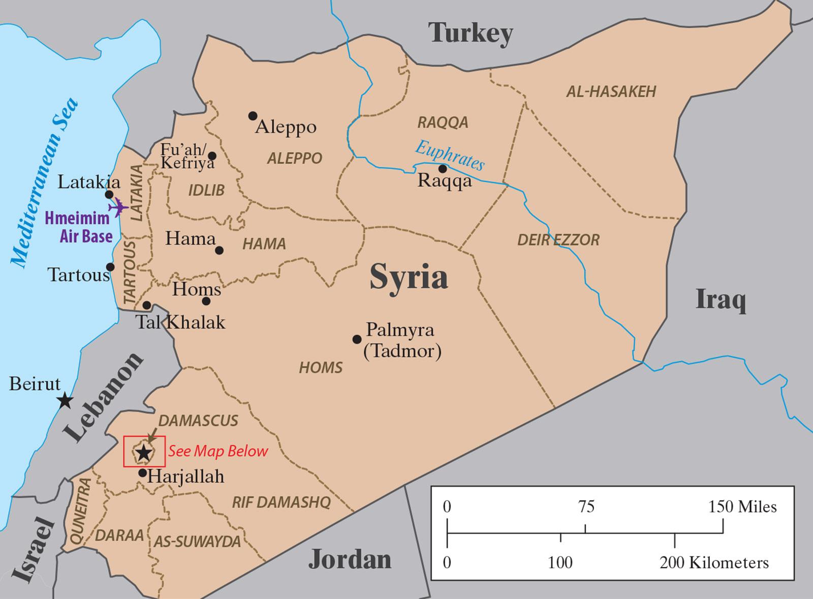 Hmeimim Tartous  Syria map