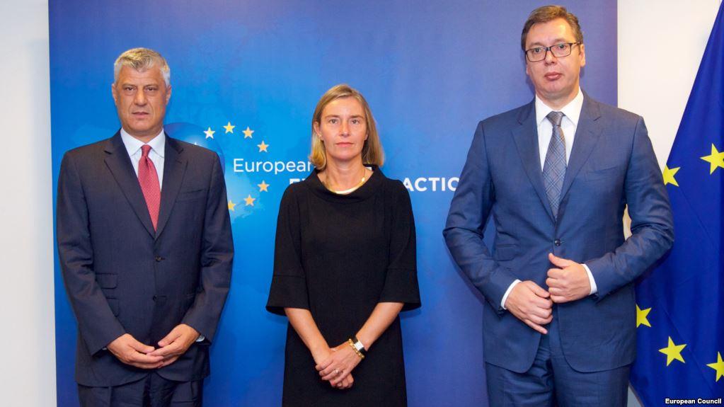 Thaci-Mogherini-Vucic
