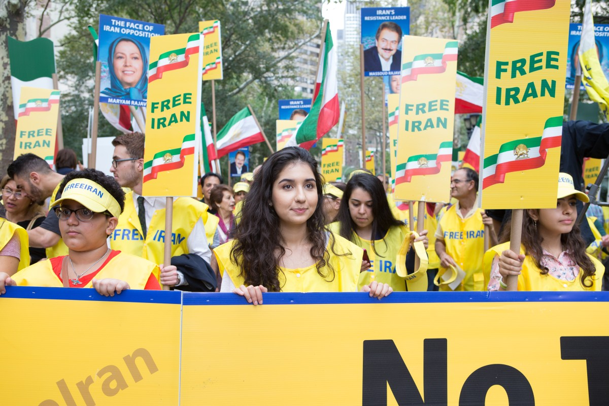 National Council of Resistance of Iran organizing an orquestrated rally in front of the UN HQ in NY, Sept 2017