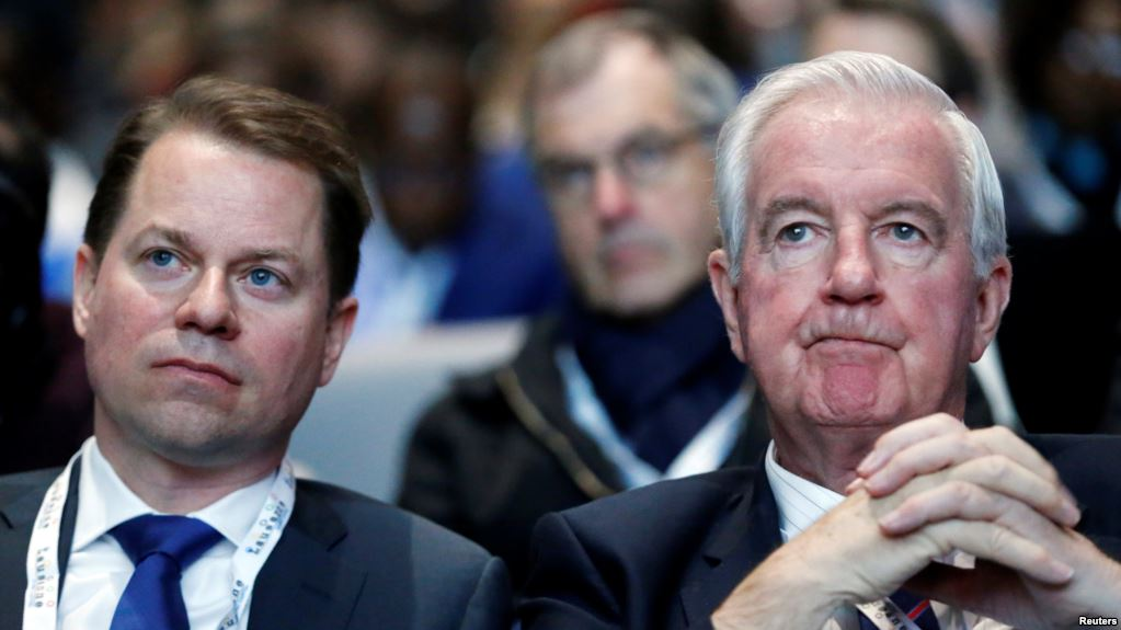 Craig Reedie, president of the World Anti-Doping Agency, and Olivier Niggli, its director-general