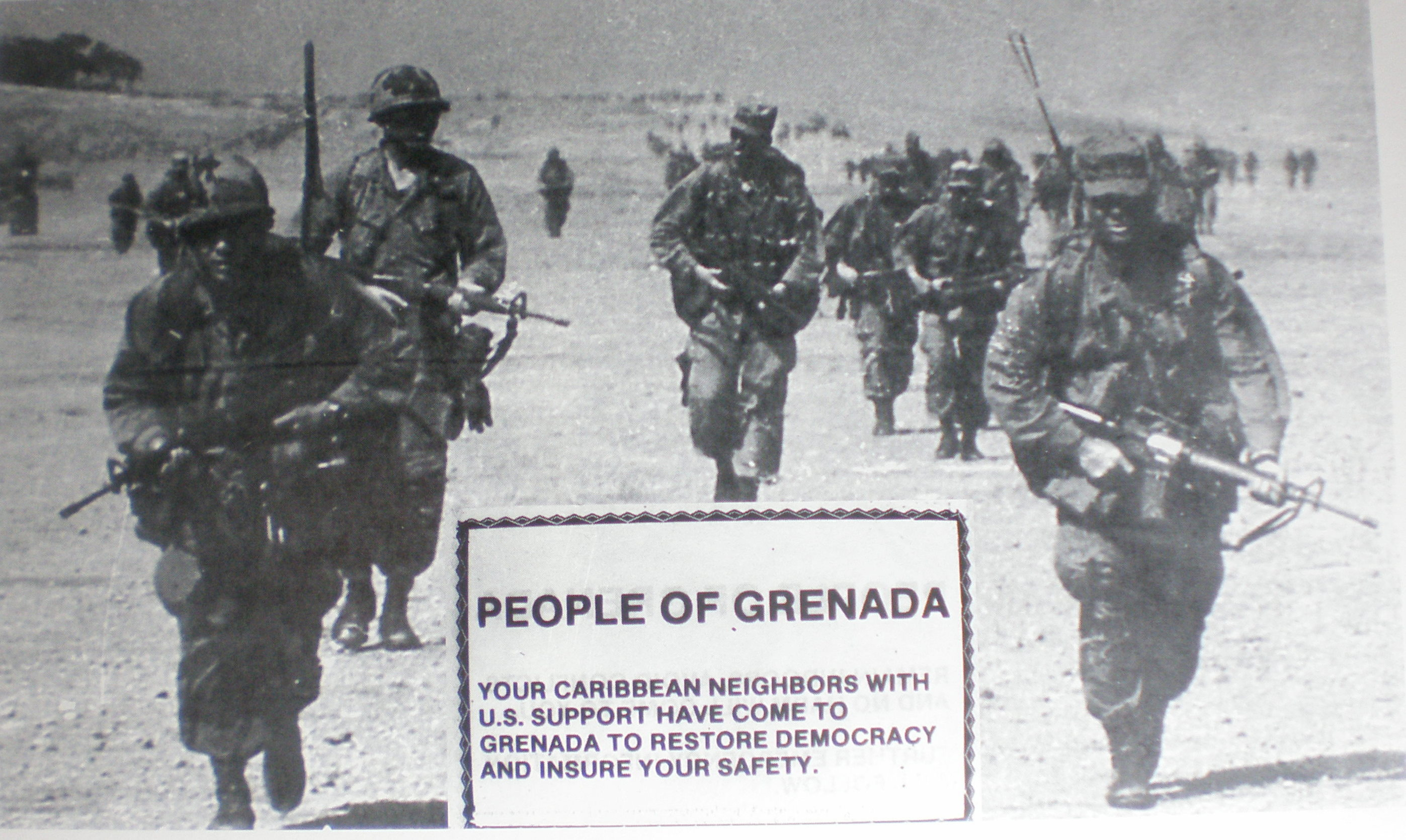Leaflet air-dropped during the US invasion of Grenada