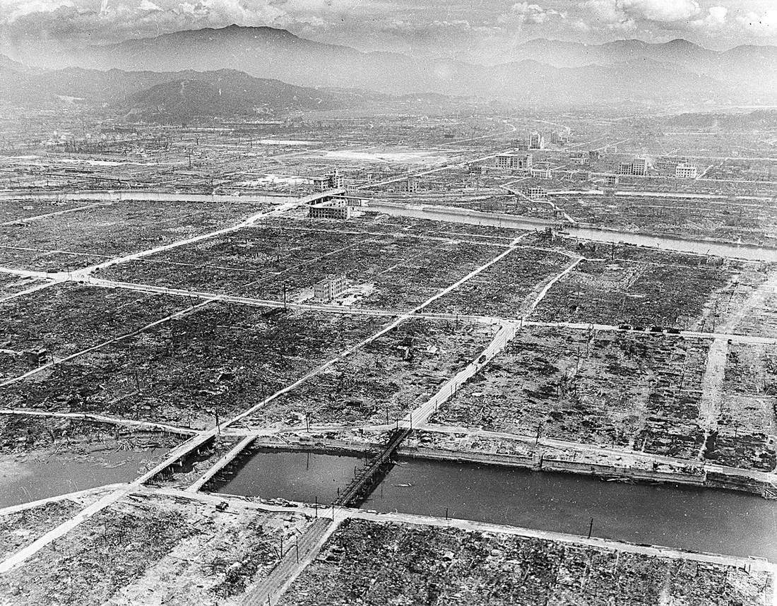 The Japanese City of Hiroshima in the Aftermath of the Nuclear Bombing by the US in 1945