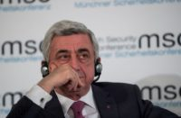 Armenian Pres. Serzh Sargsyan at the Munich Security Conference, Feb 2018