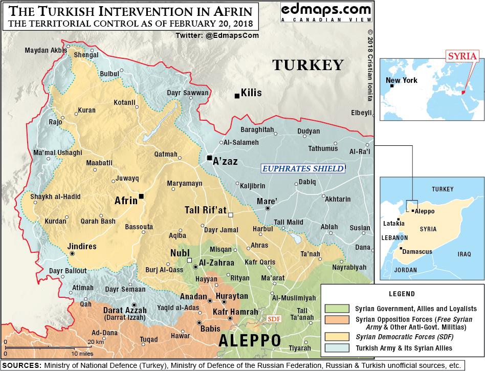 Battle for Afrin Feb 20, 2018