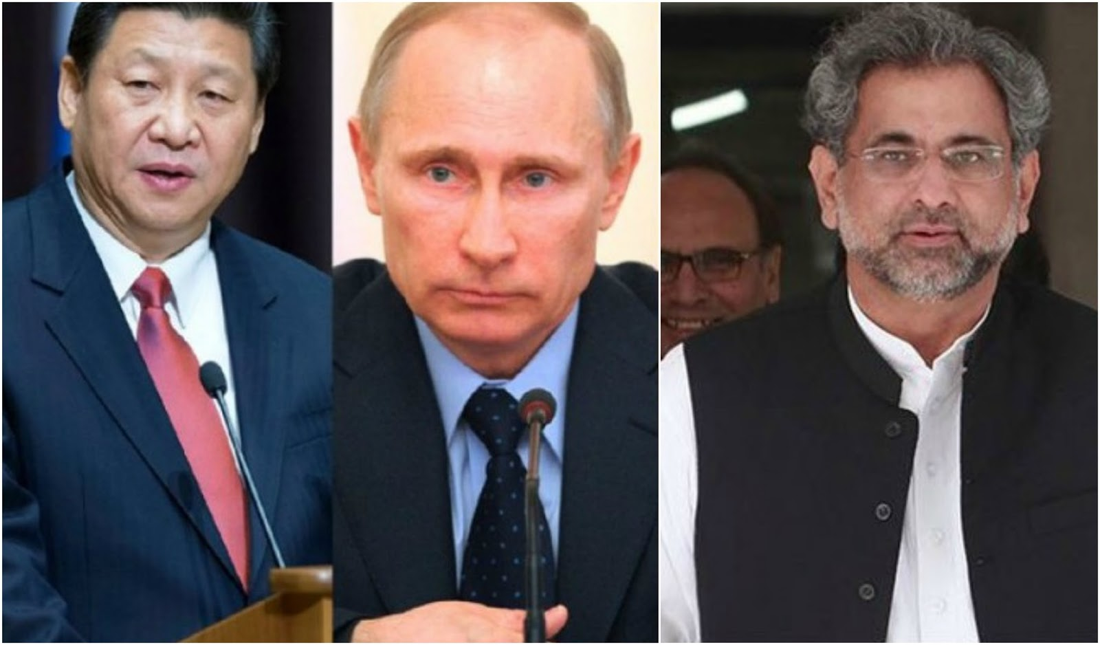 President of China, President of Russia, Prime Minister of Pakistan