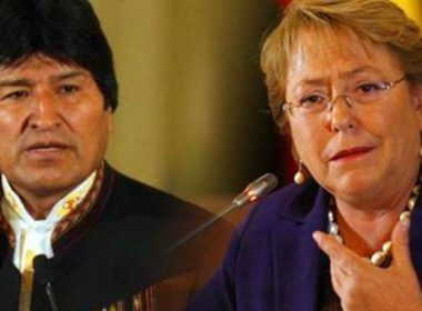 Chilean president Michelle Bachelet and her Bolivian counterpart Evo Morales