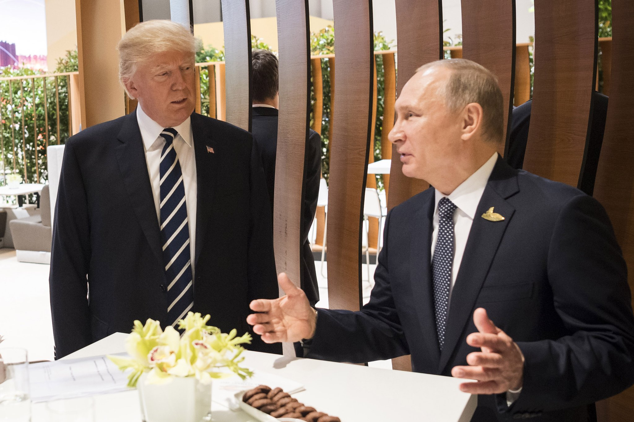 First meeting of Trump and Putin
