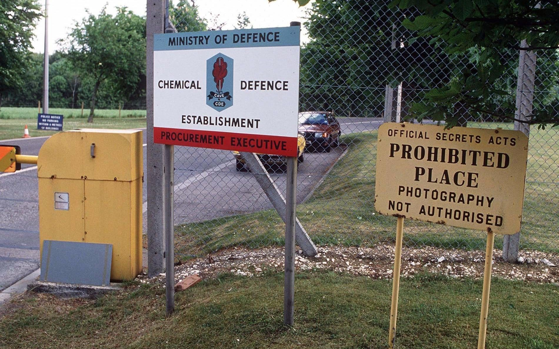 Porton Down, Salisbury, the UK Ministry of Defence's Defence Science and Technology Laboratory.