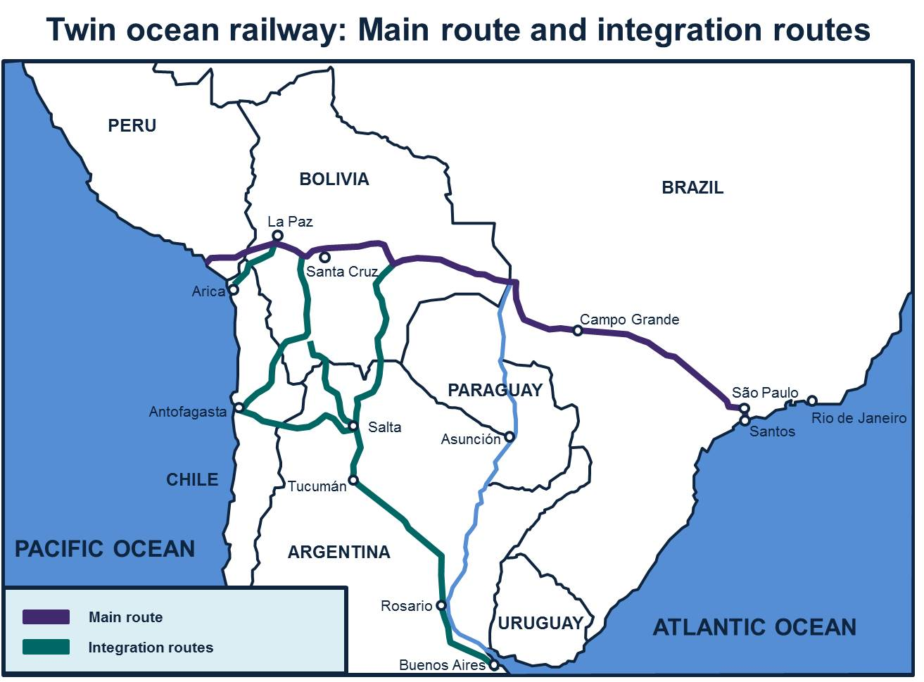 Twin Ocean Railway map