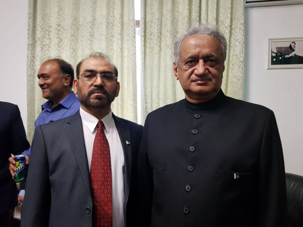 Ex-Baloch Nationalist Leader Dr Jumma Khan Marri (left) attended Pakistan Day gathering , hosted by Pakistan Embassy in Moscow