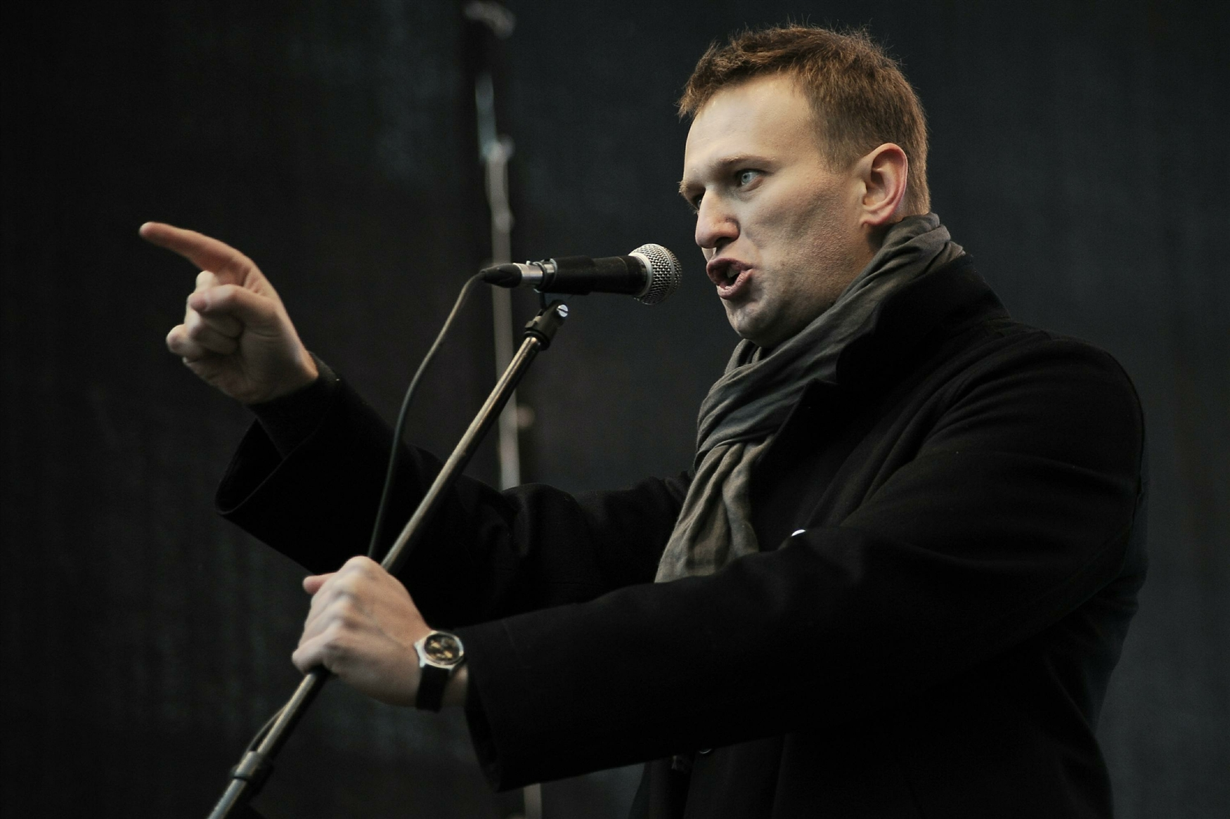 Aleksey Navalny, photo taken on a protest meeting in Dec 2011