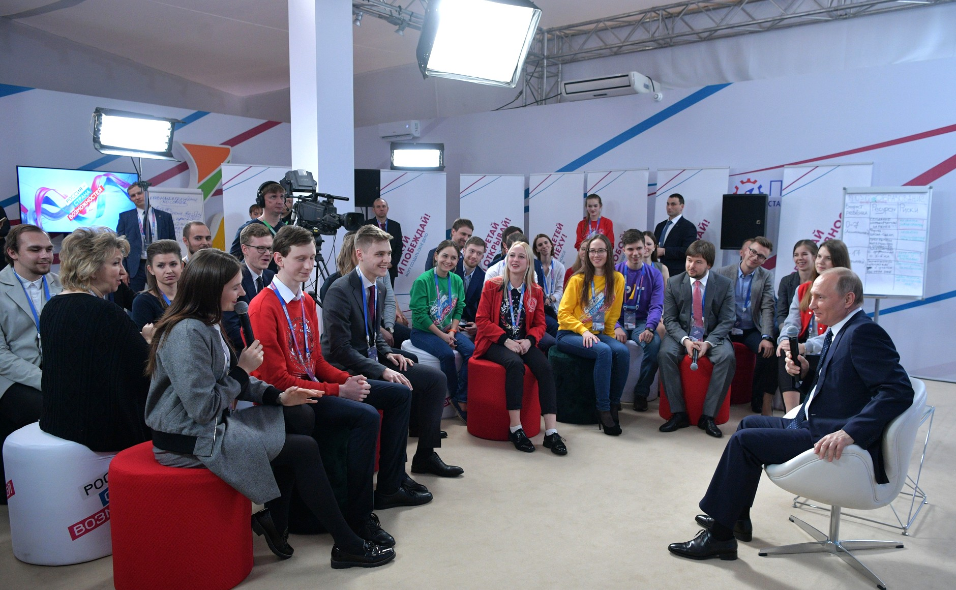 "Vladimir Putin meeting with delegates of the ""Russia - the land of opportunities"" forum, March 15, 2018"