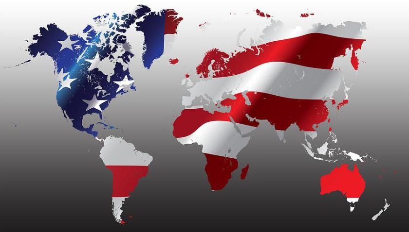 world-map-american-flag