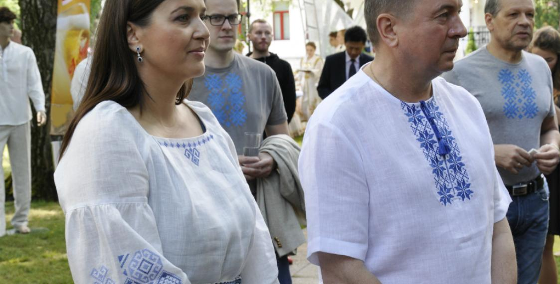 Belarusian Foreign Minister Uladzimir Makei took part in the Belarusian Embroidery Shirt Day in Minsk on June 25 2017