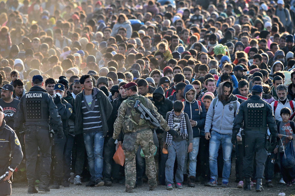 Migrants Cross Into Slovenia