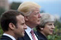 Macron Trump May