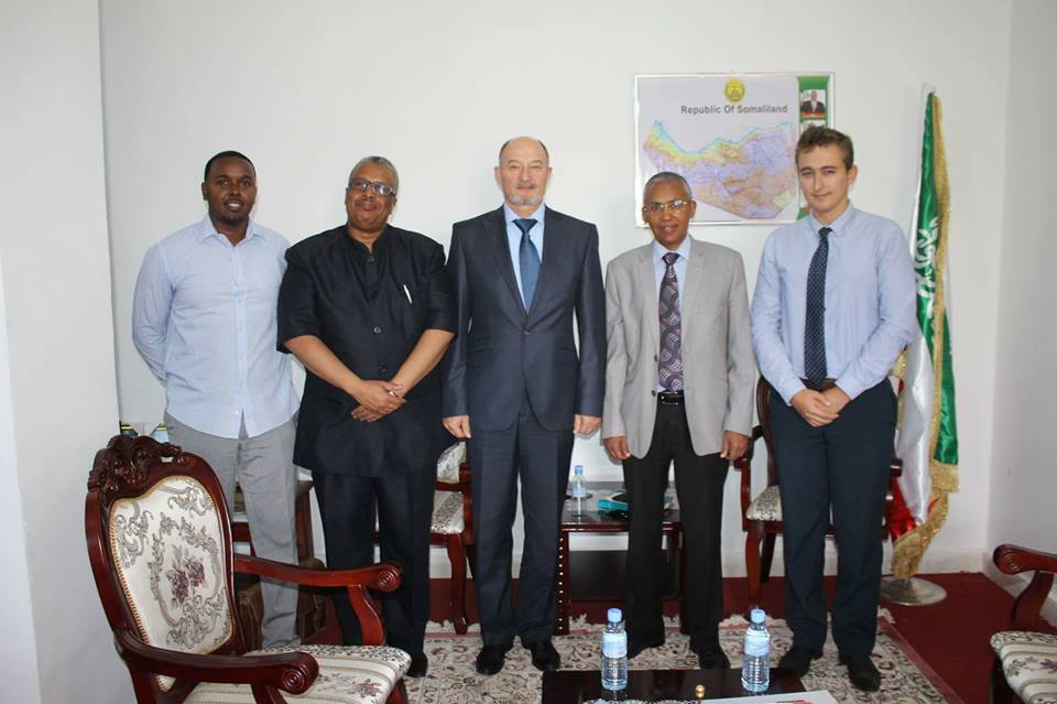 Somaliland Foreign Minister Dr. Saad Ali Shire meets with Russian diplomat Yury Kourchakov