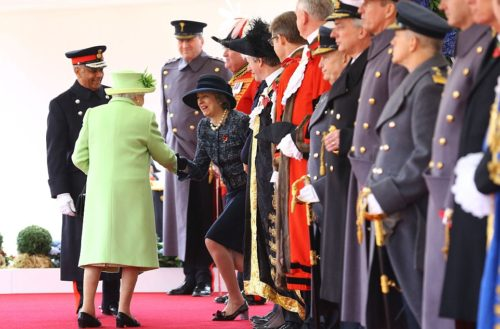 Theresa May and the Queen Elizabeth II