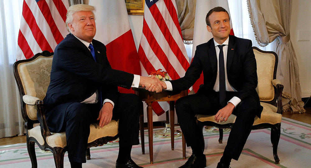 French President Emmanuel Macron visits the US
