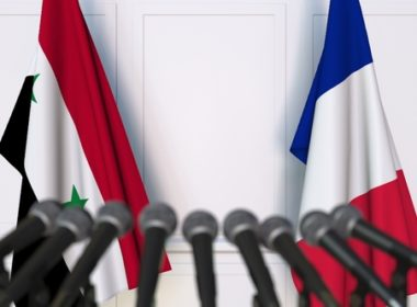 French and Syrian flags