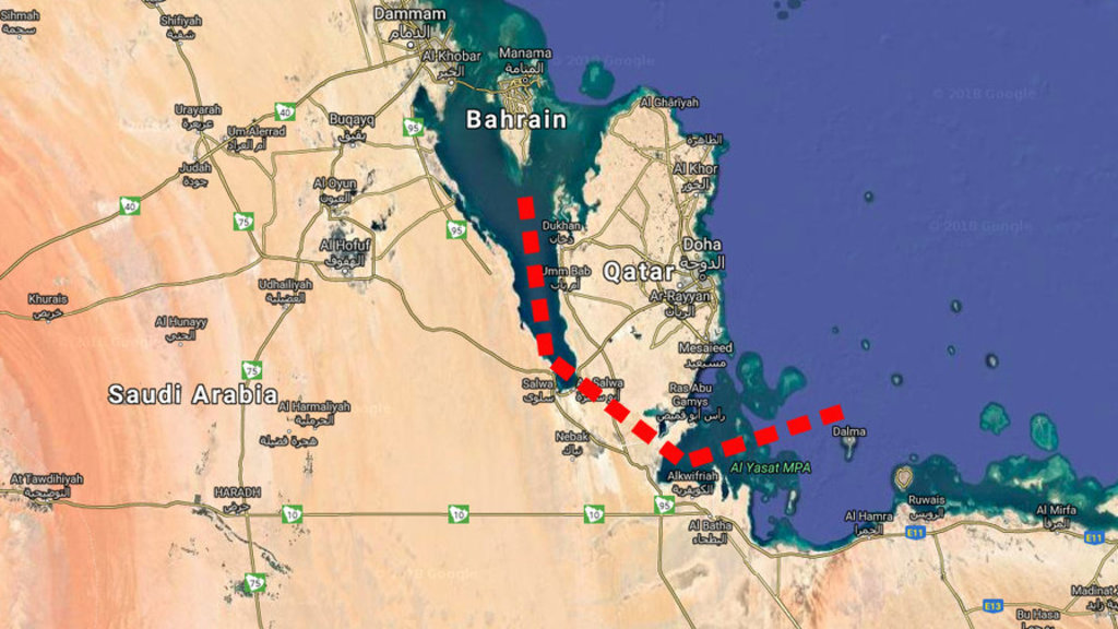Saudi Arabia plans a canal to turn Qatar into island