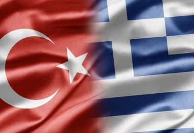 Greek and Turkish flags